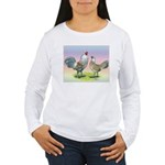 Ameraucana Chickens Pair Women's Long Sleeve T-Shi