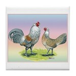 Ameraucana Chickens Pair Tile Coaster