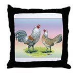 Ameraucana Chickens Pair Throw Pillow