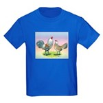 Ameraucana Chickens Pair Kids Dark T-Shirt