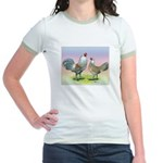 Ameraucana Chickens Pair Jr. Ringer T-Shirt