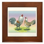 Ameraucana Chickens Pair Framed Tile