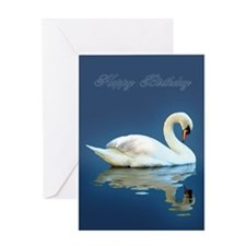 "Swan Reflects ""Happy Birthday"" Card"