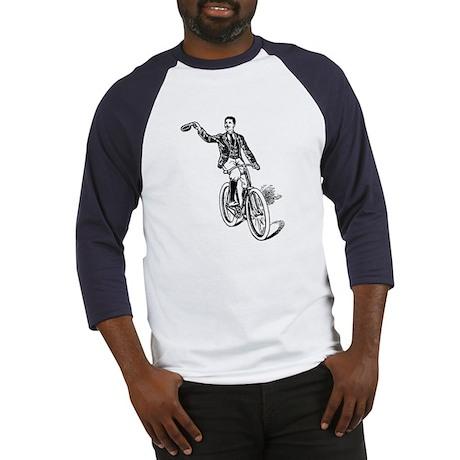 Waving Cyclist Baseball Jersey