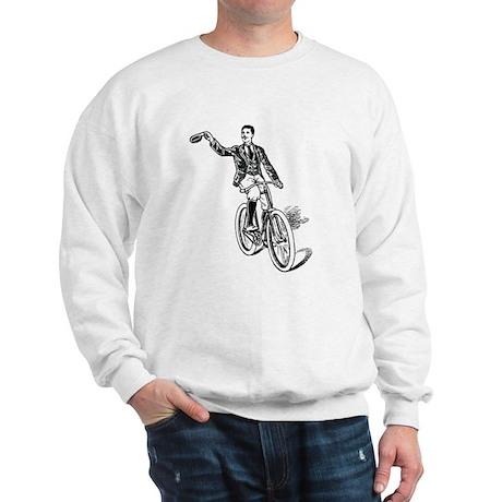 Waving Cyclist Sweatshirt