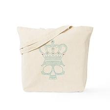 Jeweled Skull Tote Bag