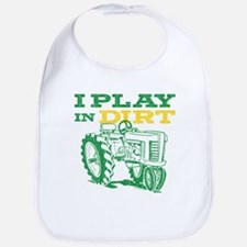 Play In Dirt Tractor Bib