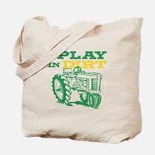 Play In Dirt Tractor Tote Bag
