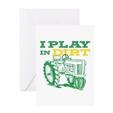 Play In Dirt Tractor Greeting Card