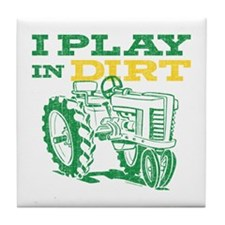 Play In Dirt Tractor Tile Coaster