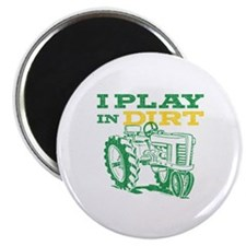 Play In Dirt Tractor Magnet