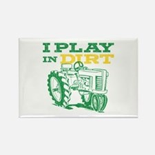 Play In Dirt Tractor Rectangle Magnet