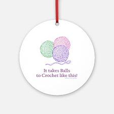 Balls to Crochet Ornament (Round)