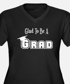 Graduation Women's Plus Size V-Neck Dark T-Shirt