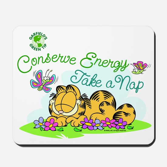 Conserve Energy Mousepad