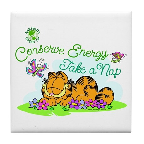 Conserve Energy Tile Coaster