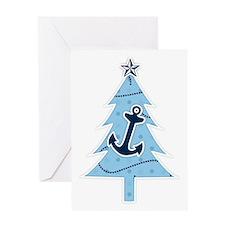 Navy Christmas Tree Greeting Card