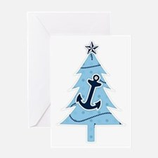 Navy Christmas Tree Greeting Card