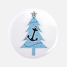 "Navy Christmas Tree 3.5"" Button"