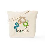 Recycle Bird Vintage Reusable Tote Bag
