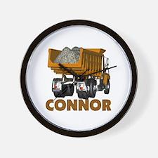 Connor Construction Dumptruck Wall Clock