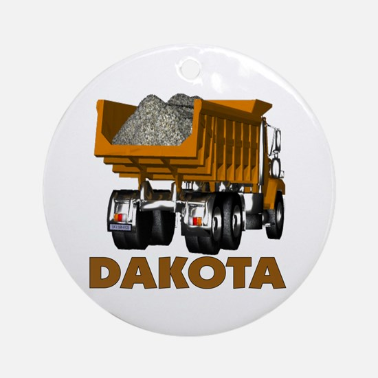 Dakota Dumptruck Ornament (Round)