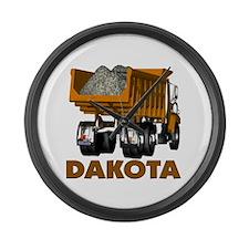 Dakota Dumptruck Large Wall Clock