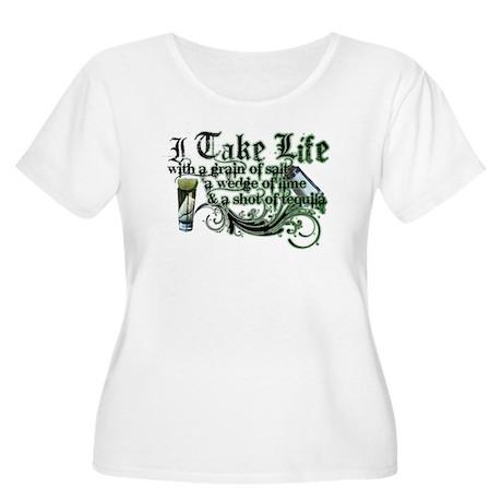 Take Life Women's Plus Size Scoop Neck T-Shirt