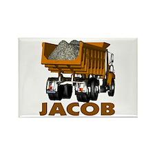 Jacob Dumptruck Rectangle Magnet