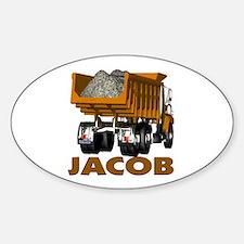 Jacob Dumptruck Oval Decal