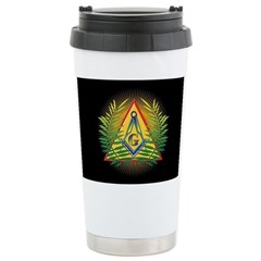 Pyramid, Sun, Acacia Travel Mug