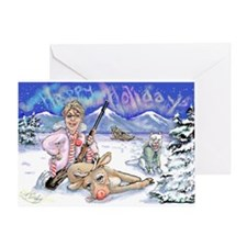 Sarah Palin Holiday Cards Greeting Card