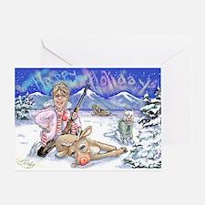 Sarah Palin Holiday Cards Greeting Card
