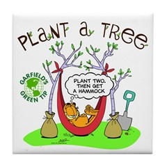 Plant A Tree Tile Coaster