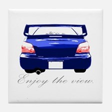 "Impreza ""Enjoy the view."" Blue Tile Coaster"