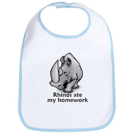 Rhinos ate my homework Bib