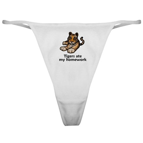 Tigers ate my homework Classic Thong