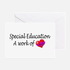 Special Education, A Work Of Love Greeting Card