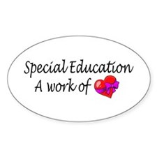 Special Education, A Work Of Love Oval Decal