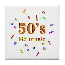 50's Music Tile Coaster