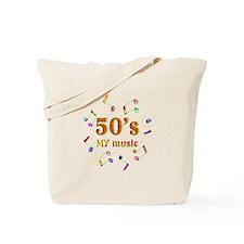 50's Music Tote Bag
