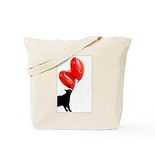 Valentine Cat Tote Bag