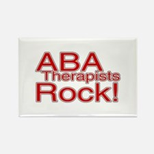 ABA Therapists Rock! Rectangle Magnet (10 pack)