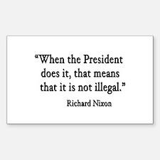 Nixon Rectangle Decal