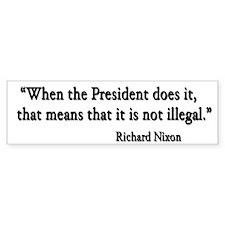 Nixon Bumper Bumper Sticker
