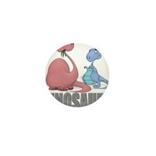 Dinosaurs (Red & Blue) Mini Button (10 pack)