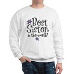 Best Sister Flower Sweatshirt