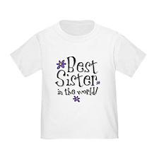 Best Sister Flower T