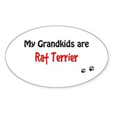 Rat Terrier Grandkids Oval Decal