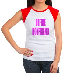 DEFINE BOYFRIEND Women's Cap Sleeve T-Shirt